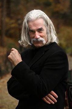 Sam Elliott offers some direction. Still gorgeous . . .yesterday, today, tomorrow... love Sam Elliott