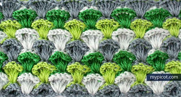 Simple & Textured Crochet Stitch Tutorial - (mypicot)*  ༺✿Teresa Restegui http://www.pinterest.com/teretegui/✿༻