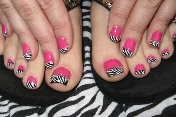 Image detail for -Zebra Stripe Nail Art   Popular Chick