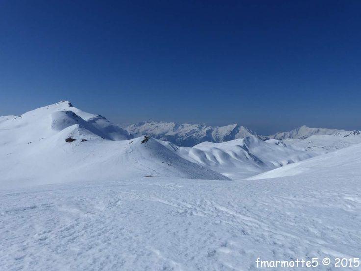 J.2 : la 19 mars 2015. Apr�s renseignements c'�tait gal�re d'utiliser les transports en commun depuis Ar�ches Beaufort, via Albertville puis retour � Petit-Coeur et remont�e � Grand Naves pour retrouver ma voiture, alors j'ai fait l'aller-retour en ski...