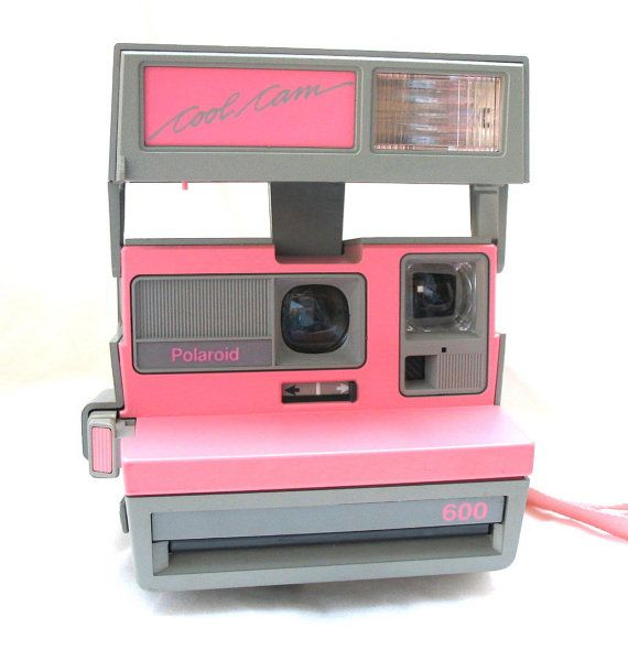 Vintage Polariod 600 Cool Cam Camera  Pink with by beicreations