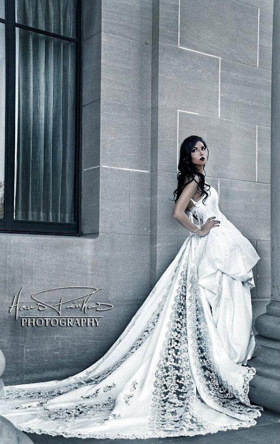 Custom ecofriendly wedding dress stunning gorgeous by KmsCouture, $5000.00