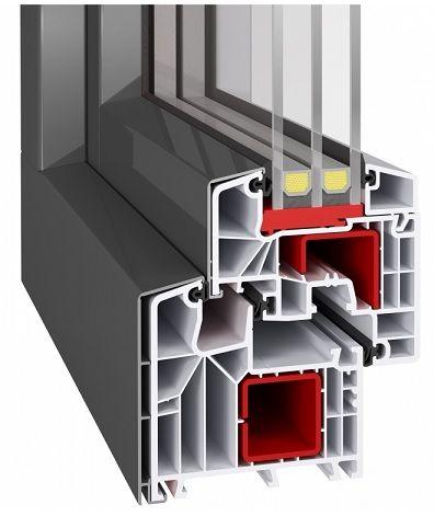 Kunststofffenster IDEAL 8000 mit ALUSKIN CLASSIC