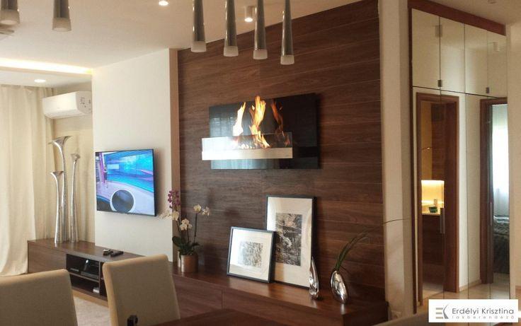 Modern nappali természetes színekkel  design: Erdélyi Krisztina lakberendező