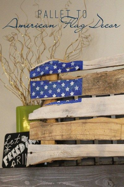 Pallet to American Flag Decor | Create your own 4th of July decor using just a pallet and some paint! Check it out here!