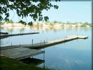 The Sand Dunes at Sandbanks, Picton, Ontario, Canada. I used to stand on these docks