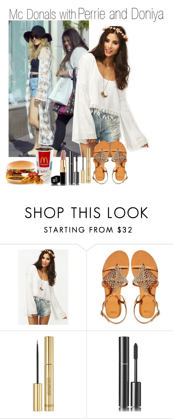"""Mc Donals with Perrie and Doniya"" by liamismybabe ❤ liked on Polyvore featuring ASOS, Yves Saint Laurent, Chanel, littlemix, perrieedwards and doniyamalik"