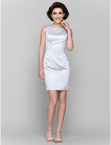 Lanting Bride® А-силуэт Платье для матери невесты До колена Рукав 3/4 Шармез - 2984516 2016 – p.6 469,38