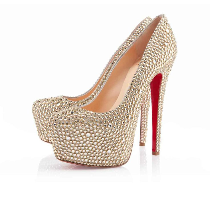 Christian Louboutin Daffodile 160mm Strass Gold