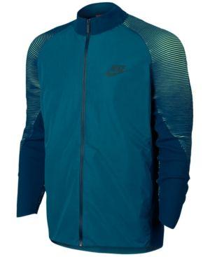 Nike Men's Sportswear Tech Knit Varsity Jacket - Green XL