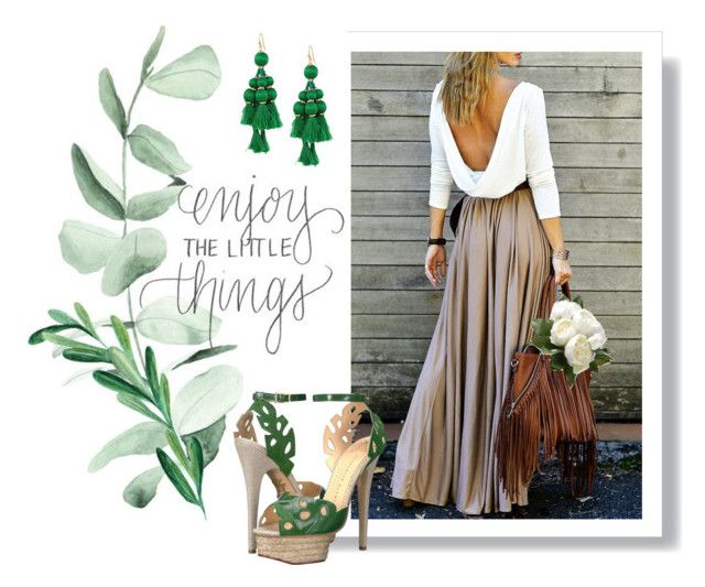 """""""Outfit #8"""" by anakhai on Polyvore featuring Charlotte Olympia, Kate Spade and National Tree Company"""