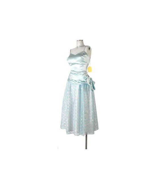 Vintage 80s Prom Dress  Pale Blue Prom Dress  by northstarvintage #etsy #80spromdress #vintagepromdress