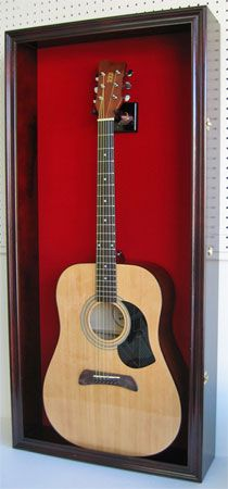 Acoustic Guitar Display Case Red Felt