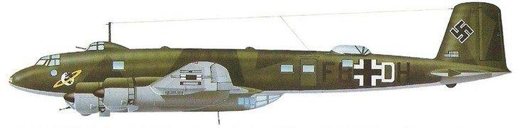 Focke-Wulf FW 200 (№:F8+DH) 40-й бомбардировочной эскадры (KG40) Condor.Бордо, Франция 1943.