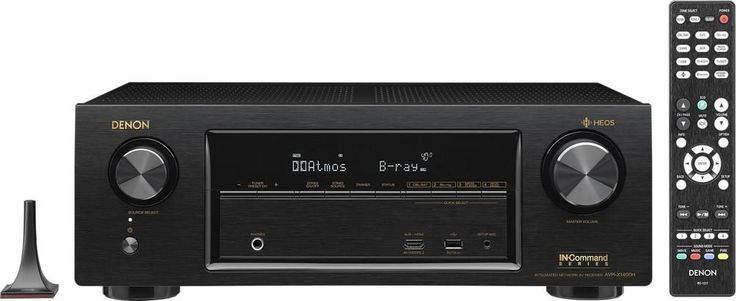 Denon - AVR 840W 7.2-Ch. With Heos 4K Ultra HD A/V Home Theater Receiver - Black