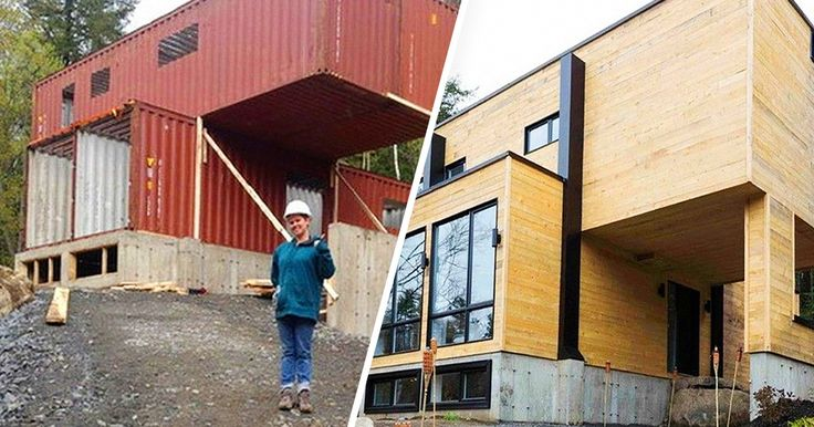This ingenious lady built her new home out ofshipping containers— and itlooks fantastic