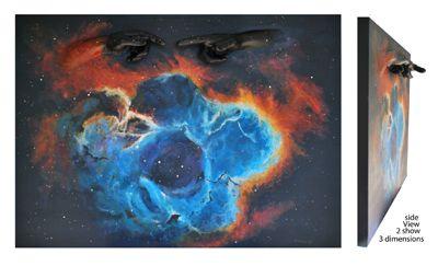 Rosetta Nebula #3D #Casting #Art