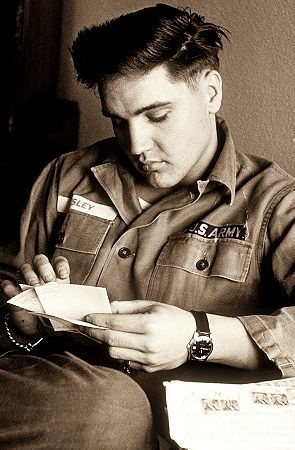 If you were born in 1958, that year with Elvis in the Army, older boomers could write to him at special addresses provided to members of The Official Elvis Presley Fan Club - Elvis got more mail then the Army had ever seen - it had to be re-routed to his state-side fan club office.
