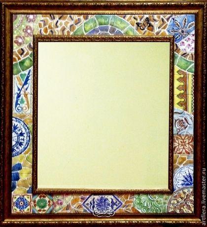 """Купить Зеркало """" В парке Гуэль"""" - зеркало, зеркало настенное, зеркало ручной работы"""