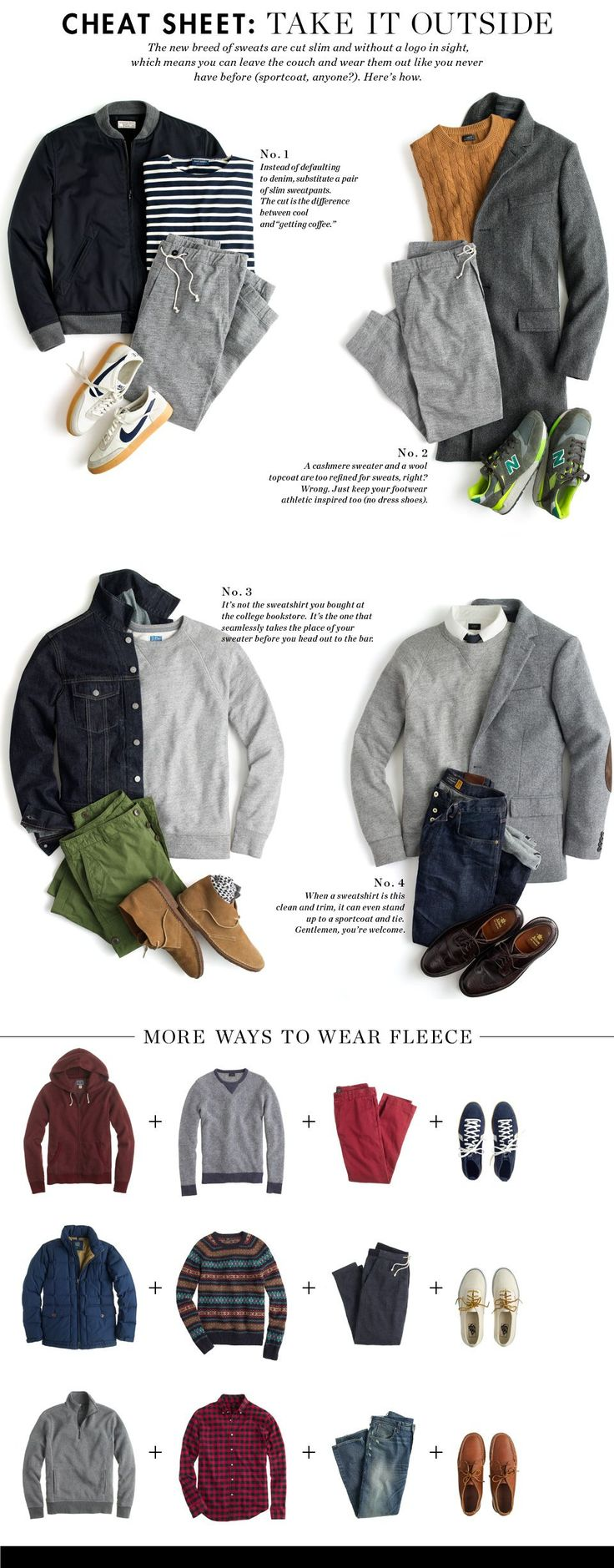 Cheat Sheet: Take It Outside - the right cut, the right pairings and you have repurposed and up cycled your look.