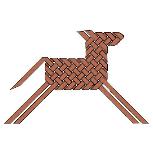 Woven Horse Ornament PDF digital instructions found on etsy.com - can easily be converted into a reindeer for a neat ornament!