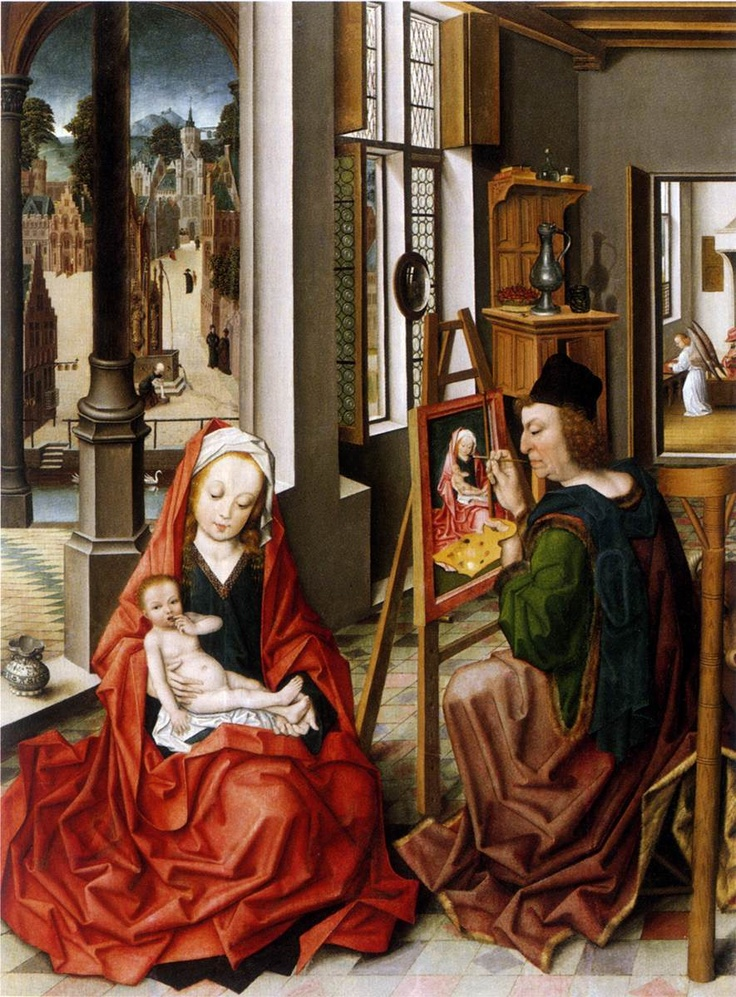 Saint Luke Painting the Virgin, c.1470, Derick Baegert, Westfälishes Landesmuseum, Münster