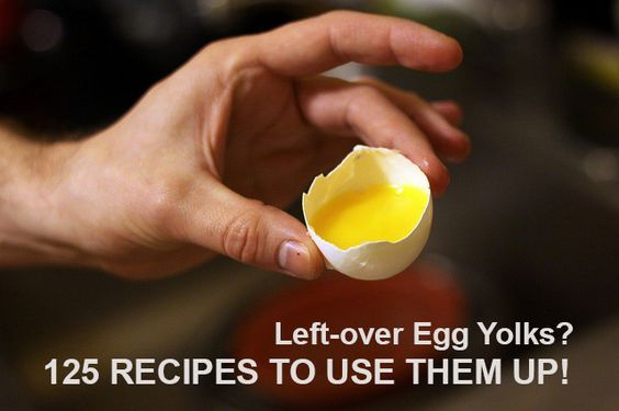 125 Recipes to Use Up Left-over Egg Yolks - handy to pin for bakers!