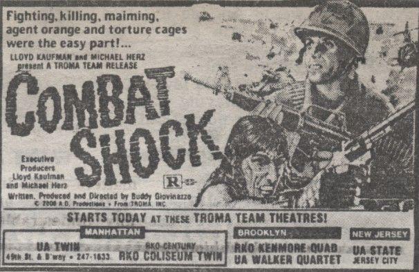 Combat shock newspaper advertisement
