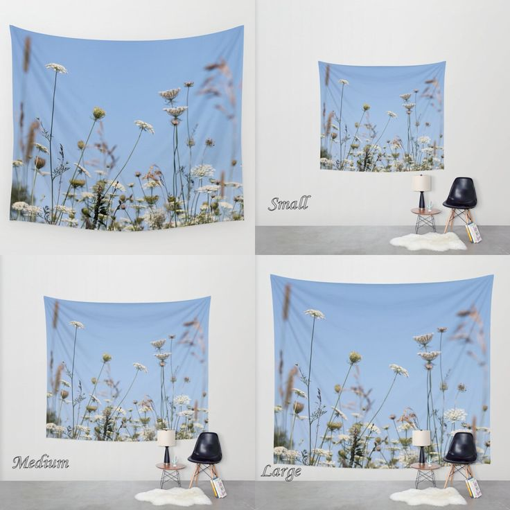 Art Tapestry Photo Tapestry Wall Tapestry / Field of Lace — Tall Graceful Stems of Queen Anne's Lace/ Large Wall Art Wall Hanging/ Nature by PhotoClique on Etsy https://www.etsy.com/listing/246118625/art-tapestry-photo-tapestry-wall