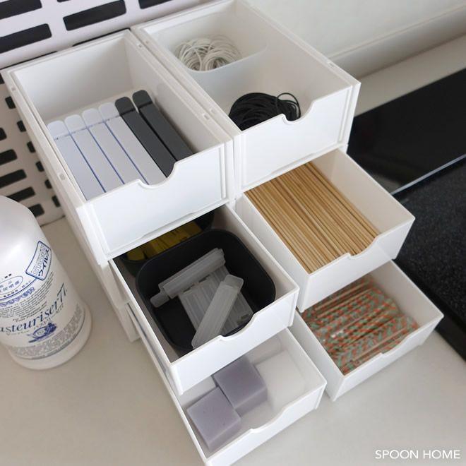 キャンドゥのスリム引き出しボックス ラックの収納アイデアブログ画像 キャンドゥ 収納 収納 アイデア 無印良品の家