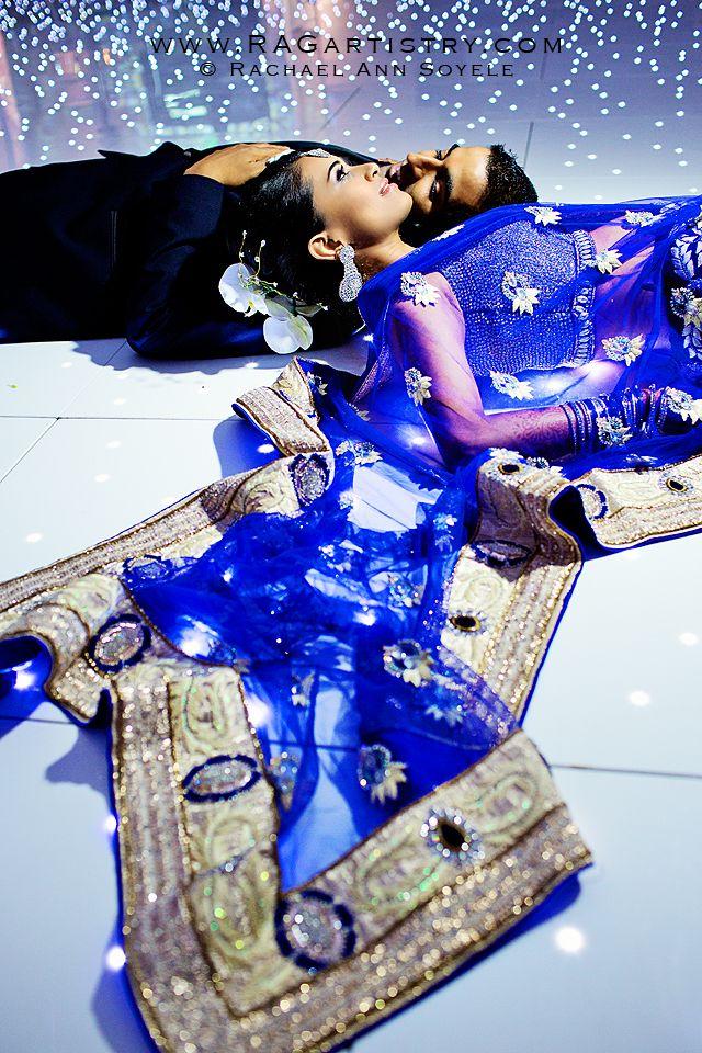 http://weddingstoryz.blogspot.in/ Indian Weddings Desi Weddings Bride makeup jewelry lehenga blue Gorgeous