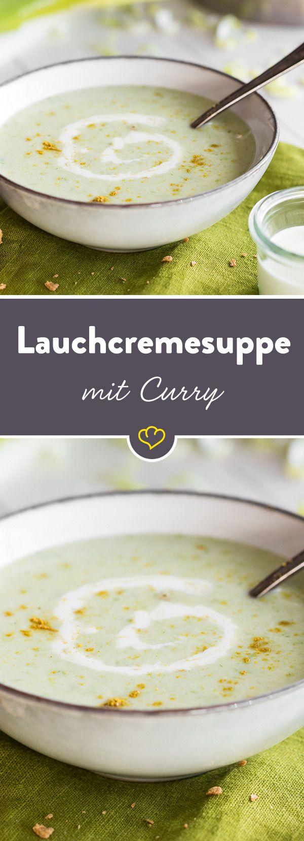 Passend zur kalten Jahreszeit darfst du dich heute über eine cremige Lauchsuppe freuen. Curry verleiht dem Ganzen eine leicht exotische Note.
