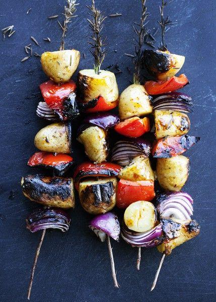 Brochettes de légumes - Elle à Table
