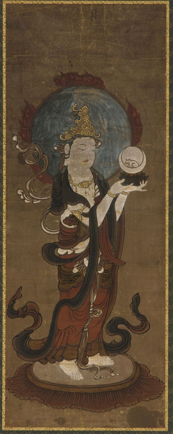 One of the twelve deva: Gwat'ten (Candra). Japan, Muromachi period, late 15th-early 16th century.