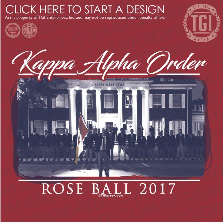Kappa Alpha Order | KA | Rose Ball | Formal | Formal Shirt | TGI Greek | Greek Apparel | Custom Apparel | Fraternity Tee Shirts | Fraternity T-shirts | Custom T-Shirts