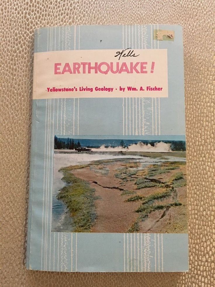 EARTHQUAKE! Yellowstone's Living Geology Fischer 1976 Separate Maps Seismology     eBay