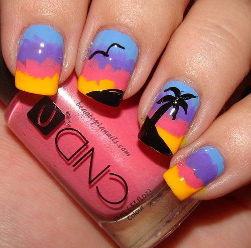 best 25  sunset nails ideas on pinterest