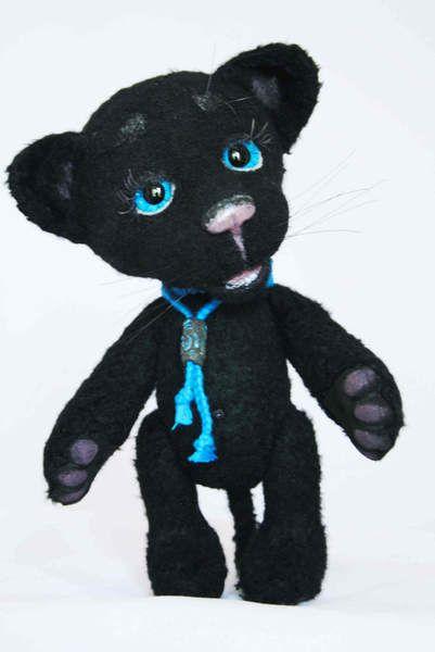 Agatha is little panther by TasyaTeddyBears