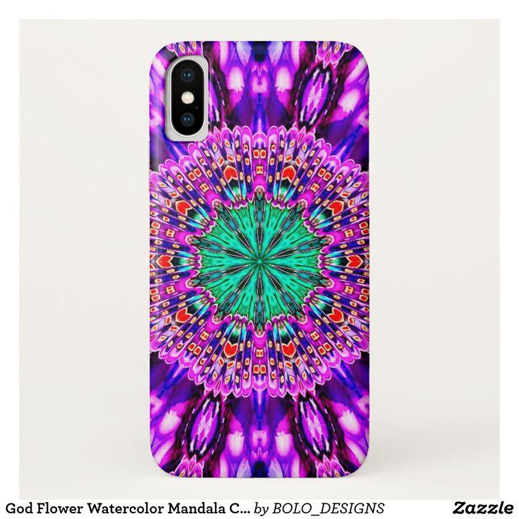 God Flower Watercolor Mandala Case