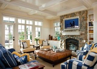 Seaside Escape - traditional - living room - san diego - by Hill Construction Company
