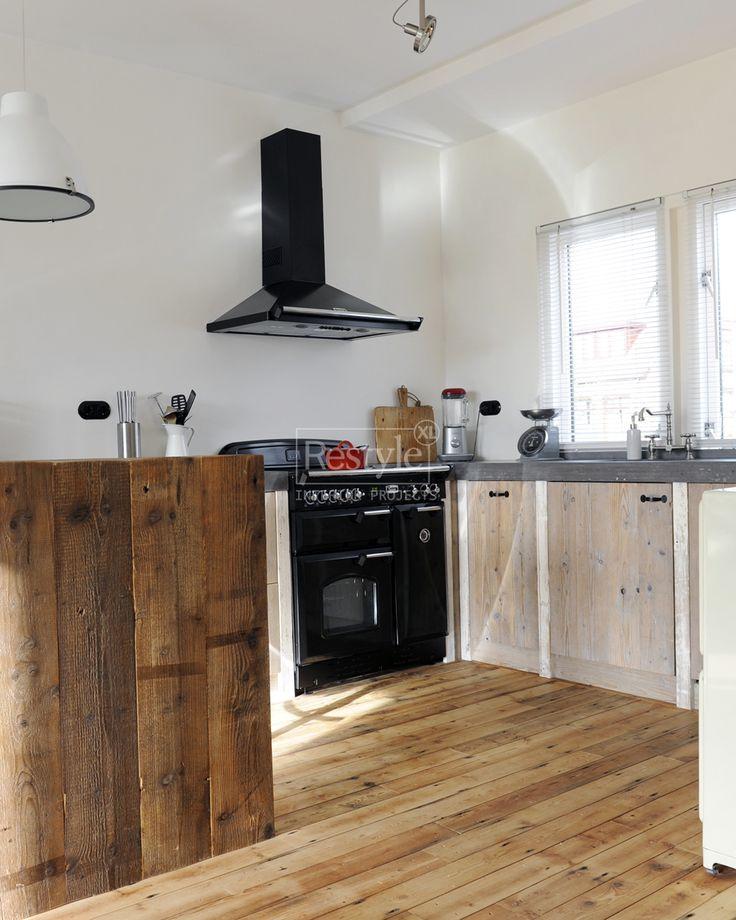 17 beste idee n over hout keuken op pinterest natuurlijke keuken moderne keukens en modern - Foto grijze keuken en hout ...