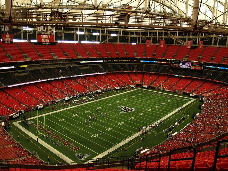 Atlanta Falcons Georgia Dome..one of my favorite places to be!  RISE UP!