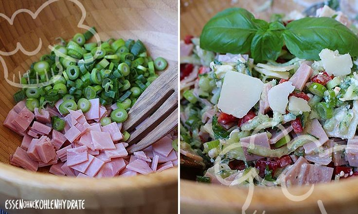 Fitness-Salat mit Schinken