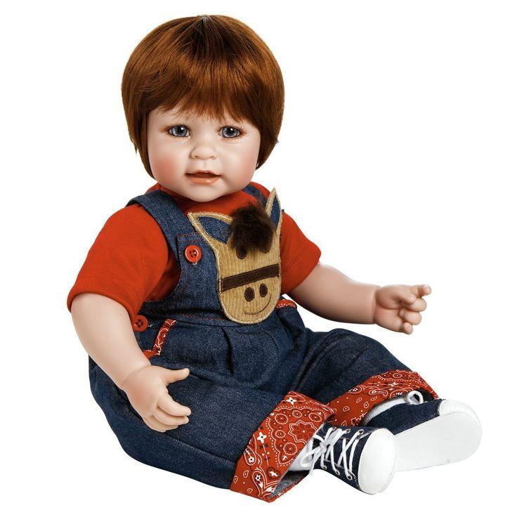 アドラドール カウボーイ風の男の子の赤ちゃん人形 ...