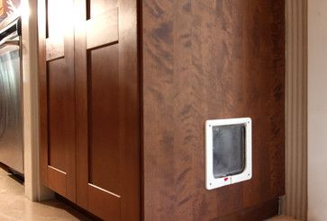 Clever Kitty Door to Hidden Litter Box traditional laundry room