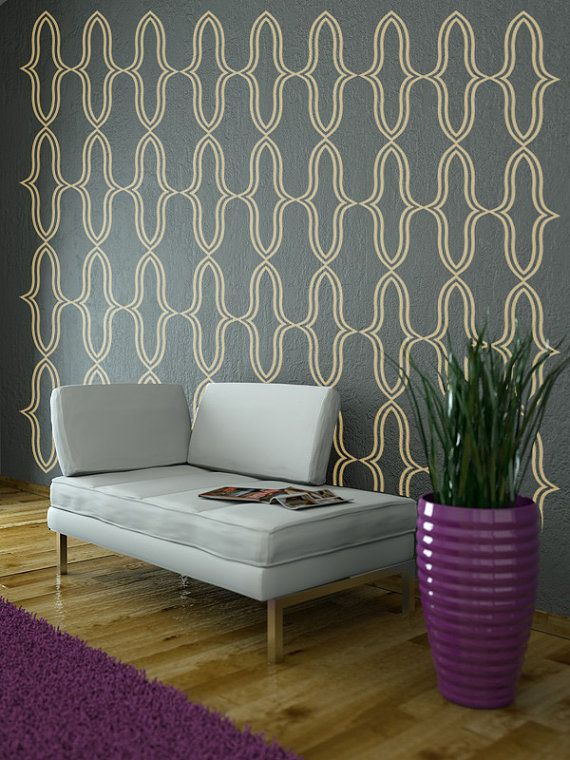 Wall Decals Geometric Wall Pattern Abstract Hollywood Regency Decor Shapes