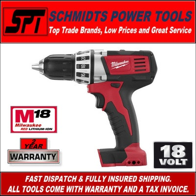 Milwaukee 18 volt M18 compact driver drill is great for small tight spaces.  A powerful tool packed into a small size.