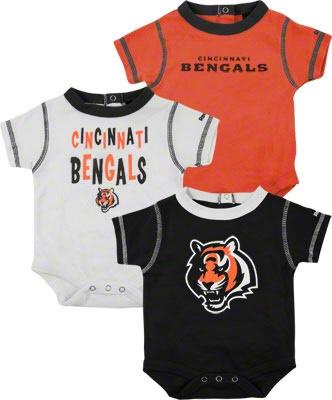 Cincinnati Bengals Infant 3-Piece Creeper Set