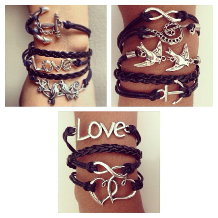 Infinity bracelets..