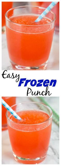 Easy Frozen Punch – a super easy punch recipe you can make in minutes! Make the day before and make your get together easy.